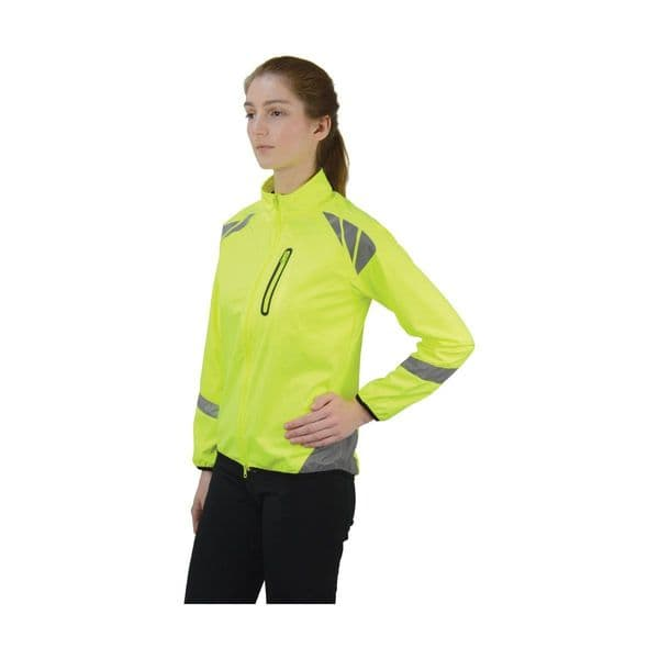 Reflector jacket by hy equestrian - yellow